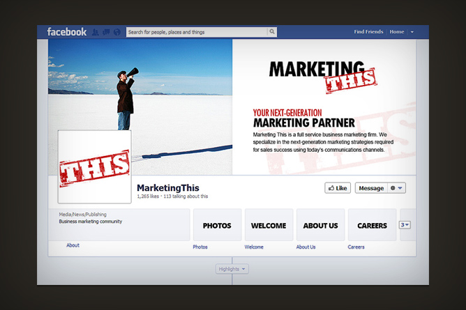 <span>Marketing This Facebook Page</span><i>></i>
