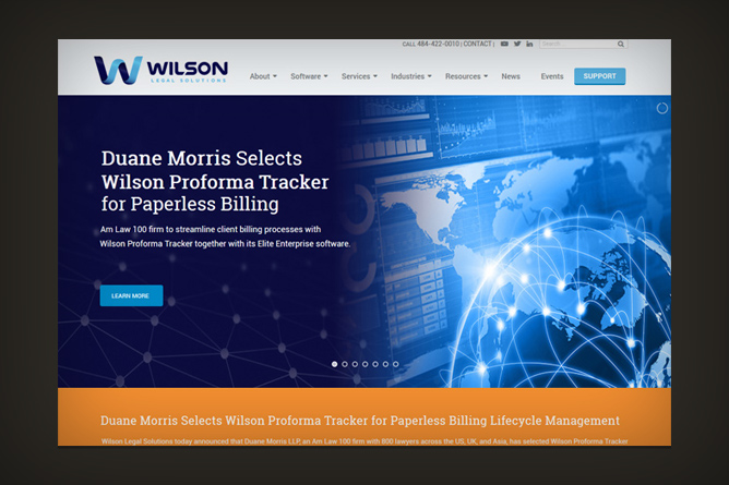 <span>Wilson Legal Solutions Website</span><i>></i>
